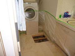 洗面所の給水管更新工事の写真2